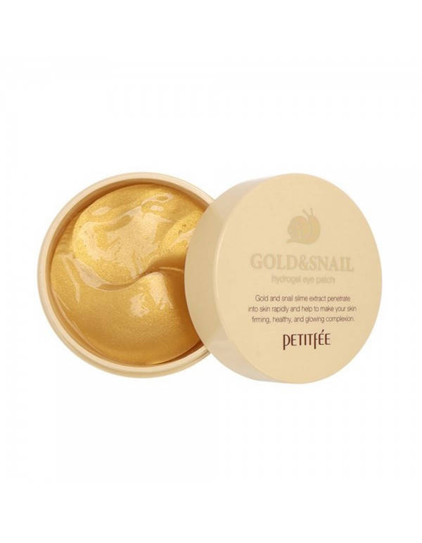 Petitfee, Гидрогелевые патчи Gold & Snail Hydrogel Eye Patch