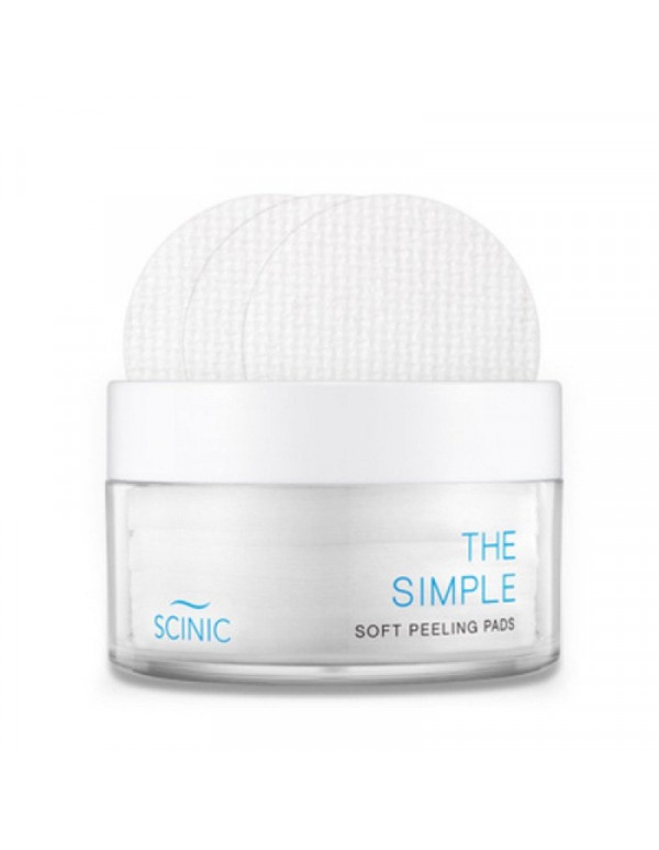Scinic, Слабокислотные пилинг-пэды The Simple Soft Peeling Pads