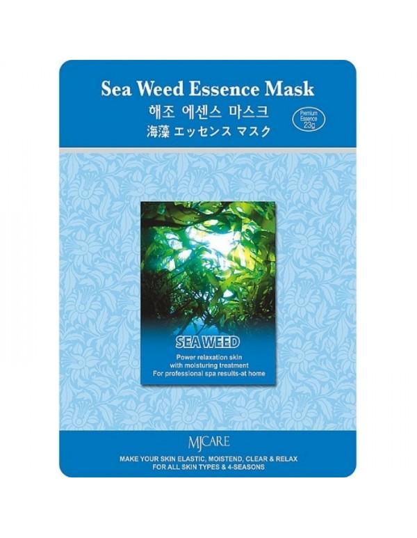 MJ Care, Маска для лица с морскими водорослями Sea Weed Essence Mask