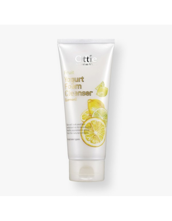 Ottie, Oчищающая пенка Fruits Yogurt Foam Cleanser [Lemon]
