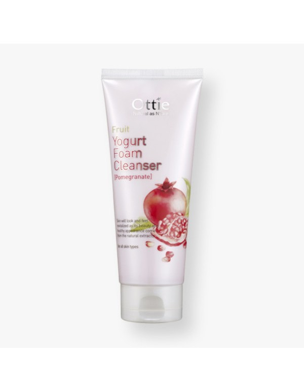 Ottie, Очищающая пенка Fruits Yogurt Foam Cleanser (Pomegranate)