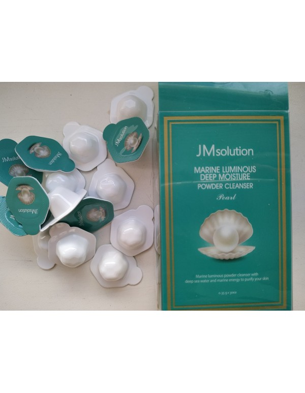JM Solution, Энзимная пудра Marine Luminous Pearl Deep Moisture Powder Cleanser