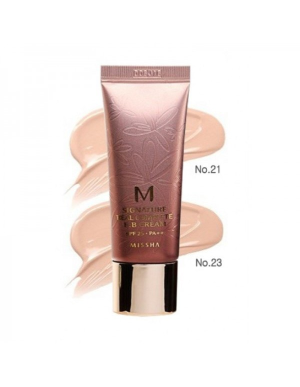 Missha, Увлажняющий ББ крем M Signature Real Complete BB Cream SPF25/PA++ (№21,№23)